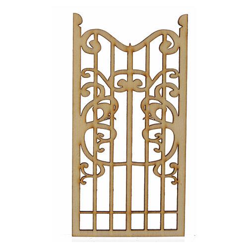 Nativity accessory, wooden gate 12x6cm 1
