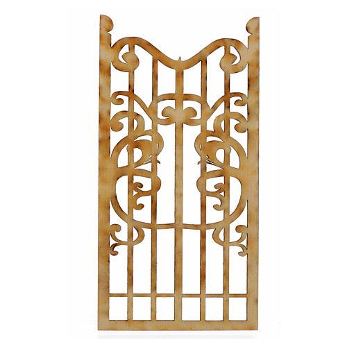 Nativity accessory, wooden gate 12x6cm 2
