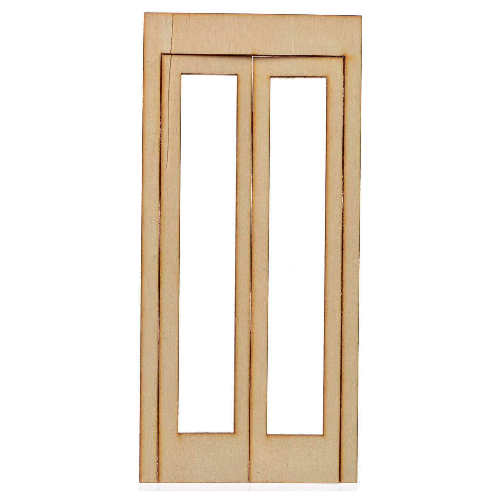 Caixilho presépio madeira 19x9 cm 4