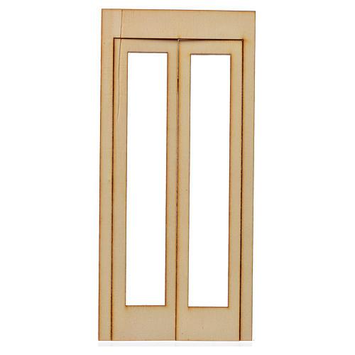 Caixilho presépio madeira 19x9 cm 1
