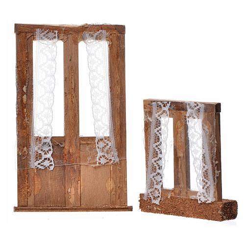 Infissi presepe legno 2 pz 11x7 e 7x6 2