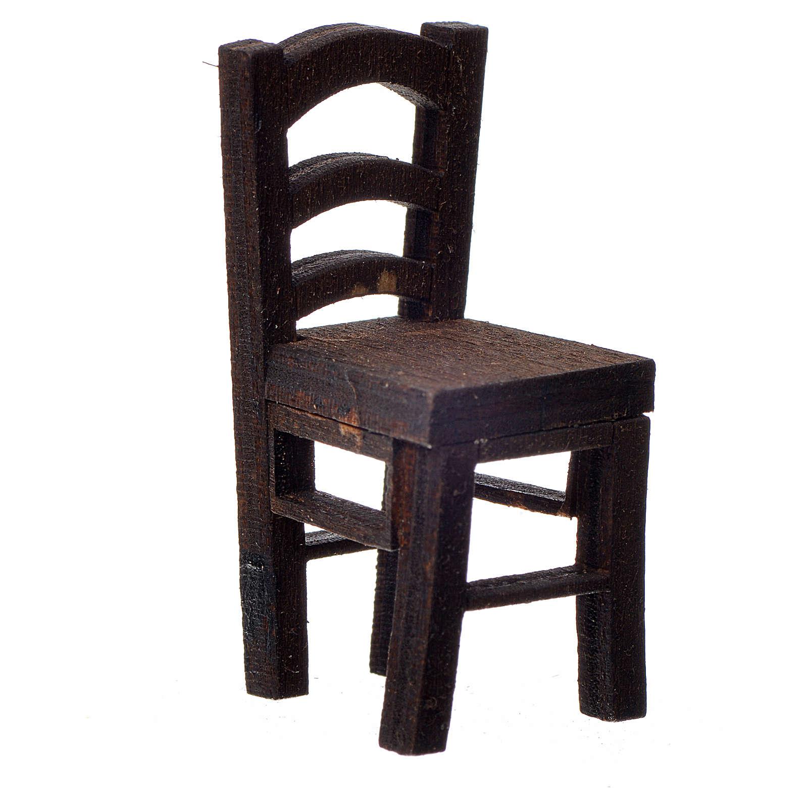 Nativity accessory, wooden chair 4x2x2cm 4