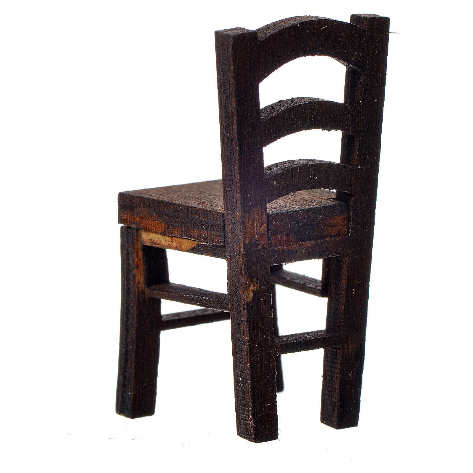 Chaise en bois en miniature 4x2x2 4