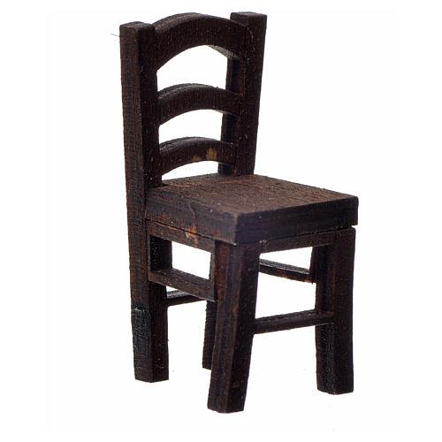 Chaise en bois en miniature 4x2x2 1
