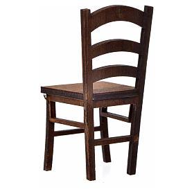 Nativity accessory, wooden chair 7.5x3.5x3.5cm s2