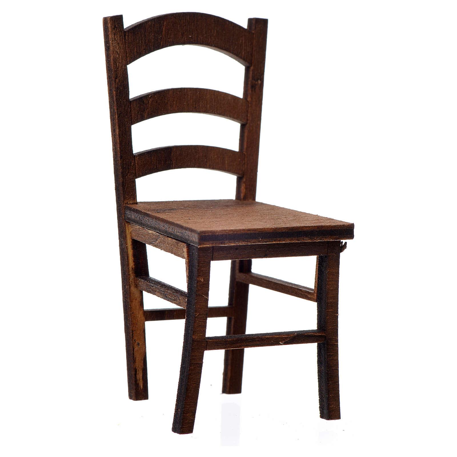 Cadeira madeira presépio 7,5x3,5x3,5 cm 4