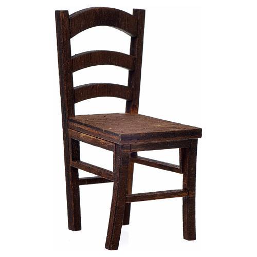 Chaise en bois en miniature 6,5x3x3 1