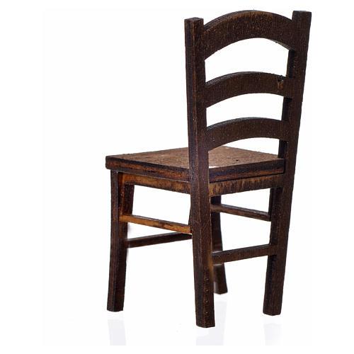 Chaise en bois en miniature 6,5x3x3 2