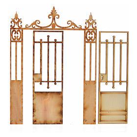 Cancello presepe 2 ante 14,5x11 s2