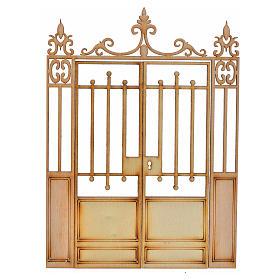 Portão presépio 2 portas 14,5x11 cm s1