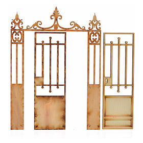 Portão presépio 2 portas 14,5x11 cm s2