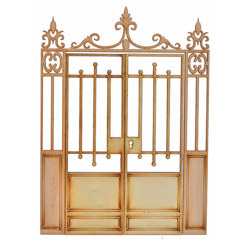 Portão presépio 2 portas 14,5x11 cm 1