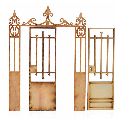 Portão presépio 2 portas 14,5x11 cm 2