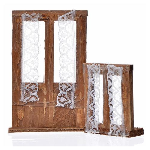 Infissi legno presepe 2 pz 9x6 e 5x4,5 2