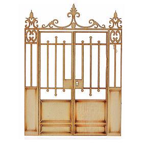 Cancello presepe 2 ante legno 10x7,5 s1