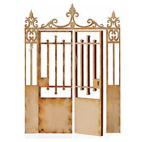 Cancello presepe 2 ante legno 10x7,5 s2
