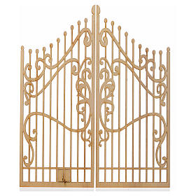 Nativity accessory, wooden gate with 2 doors, 25x20cm s1