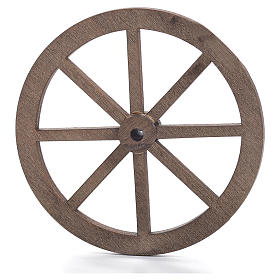Nativity accessory, wooden wheel, diam. 6cm s1