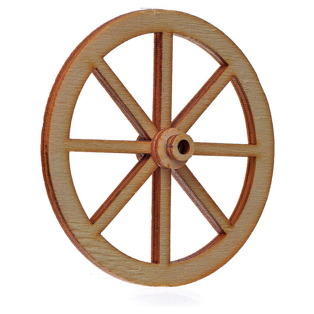 Rueda belén madera 6 cm. 4
