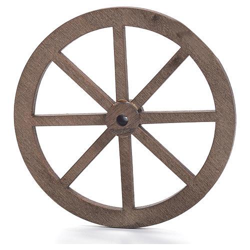 Rueda belén madera 6 cm. 1