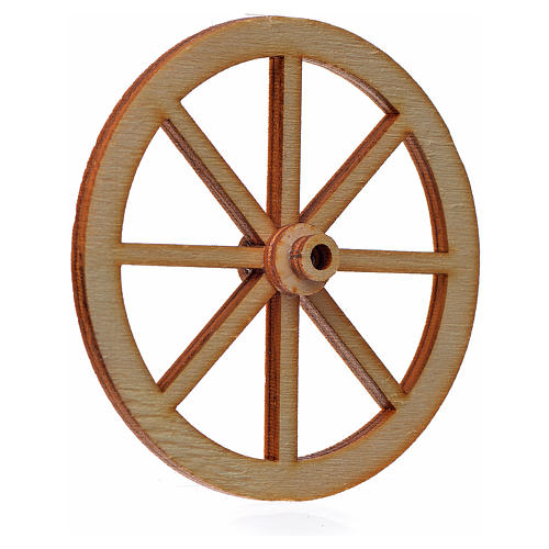 Rueda belén madera 6 cm. 2