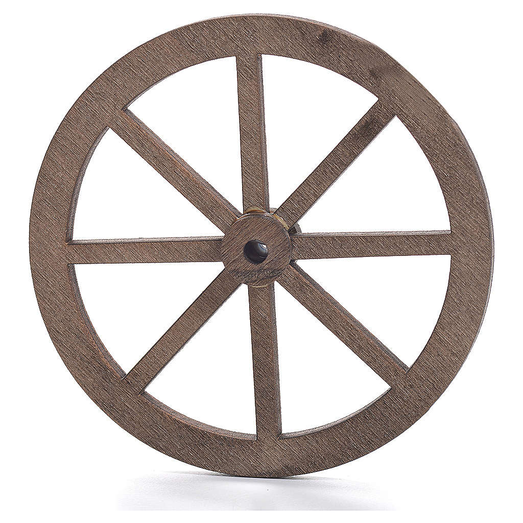 Ruota presepe legno cm 6 4