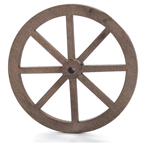 Nativity accessory, wooden wheel, diam. 6cm 1