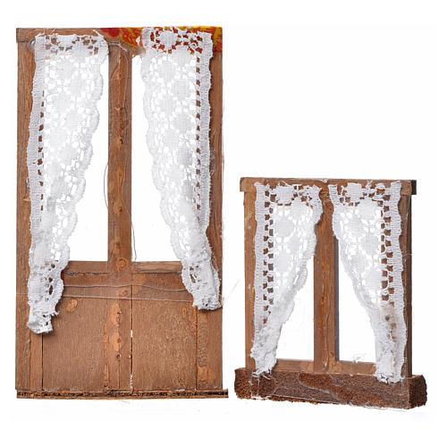 Caixilhos presépio 2 peças madeira 13x7,5 e 8x7 cm 2
