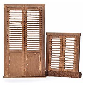 Nativity accessory, wooden frame, venetian blind 2pcs, 13.5x7.5 s2