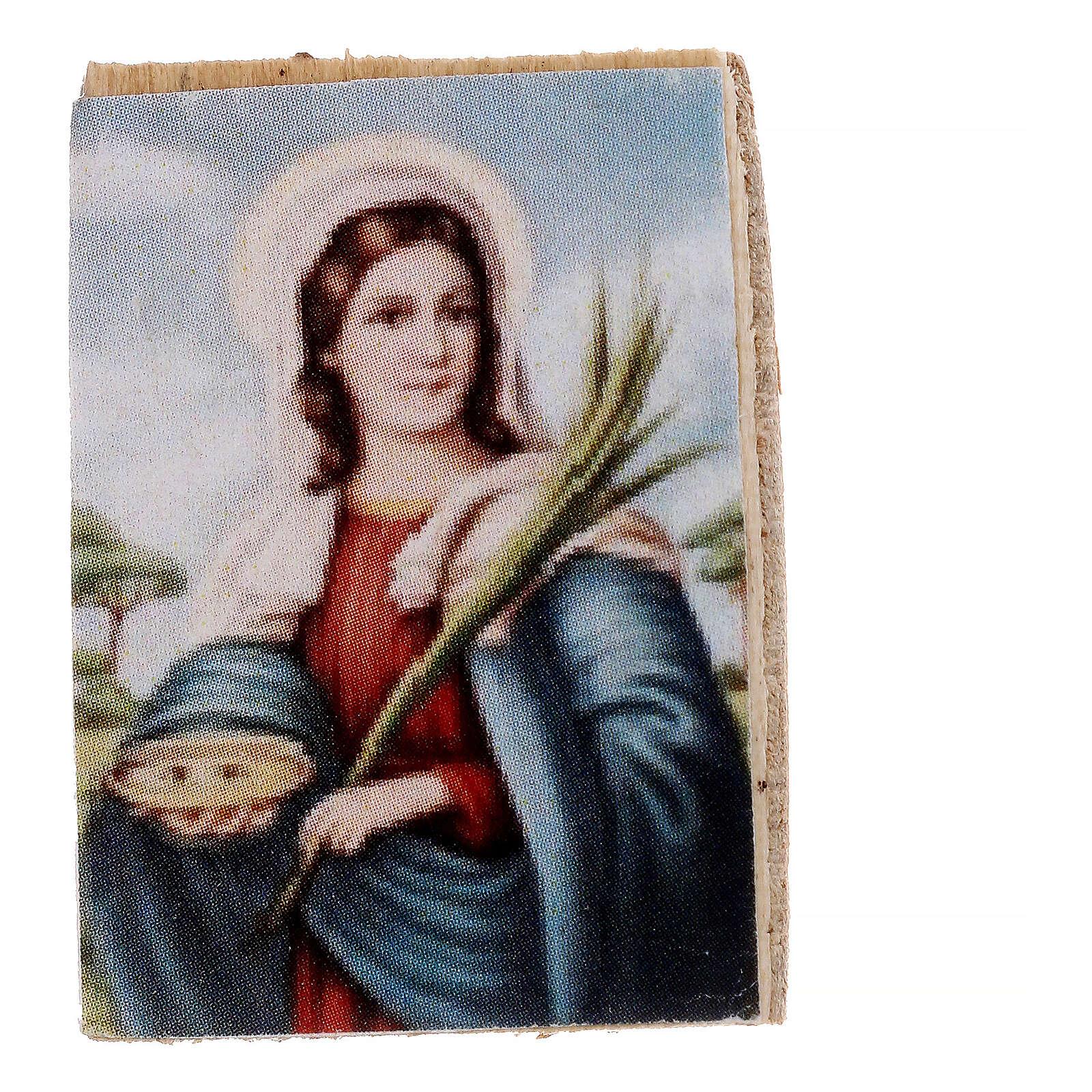 Nativity accessory, wooden picture, 2pcs, 4x3.5cm 4