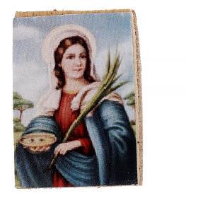 Nativity accessory, wooden picture, 2pcs, 4x3.5cm s1