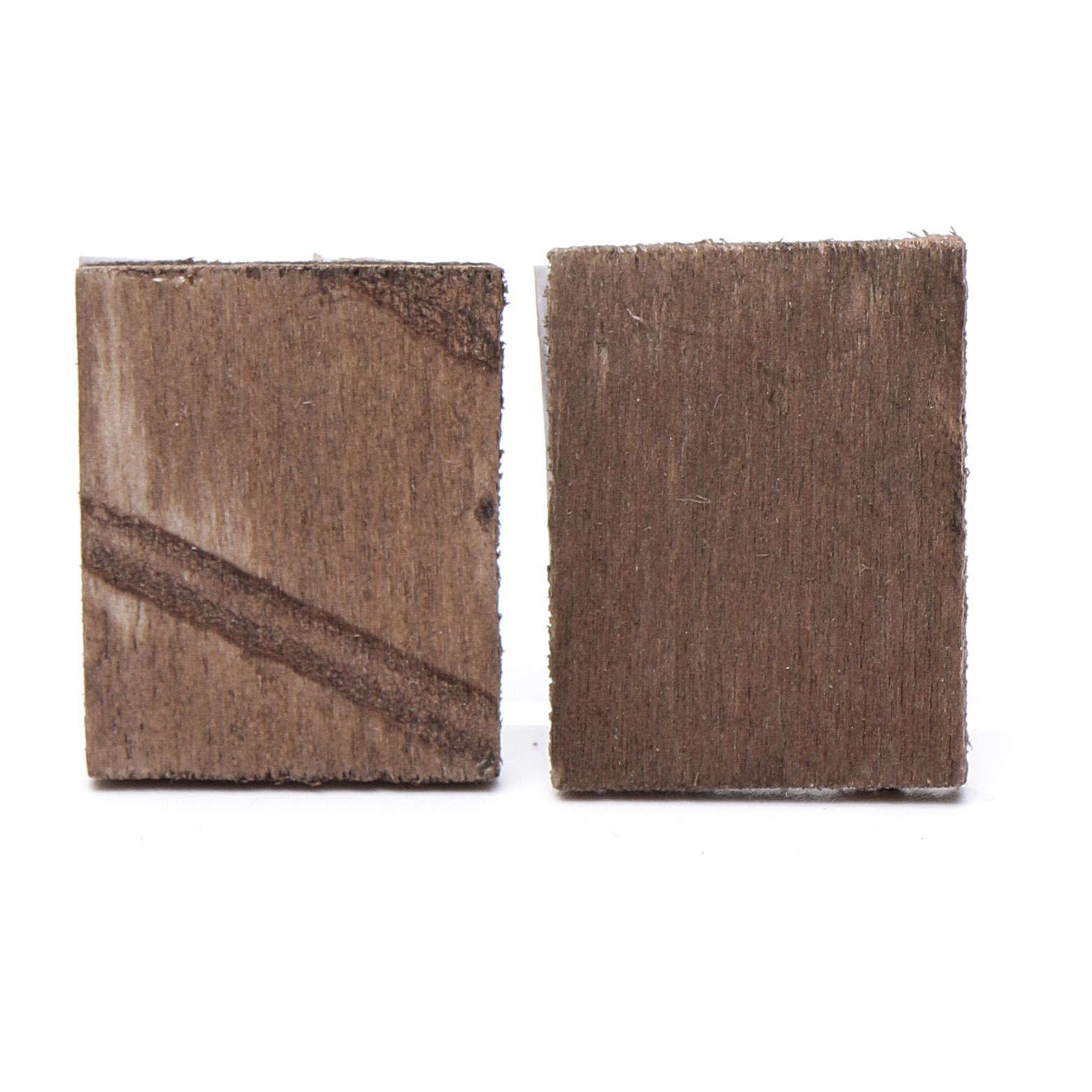 Cuadro madera belén 2 piezas 4x3.5 4