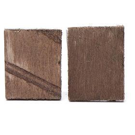 Quadretto legno presepe 2 pz 4x3,5 s2