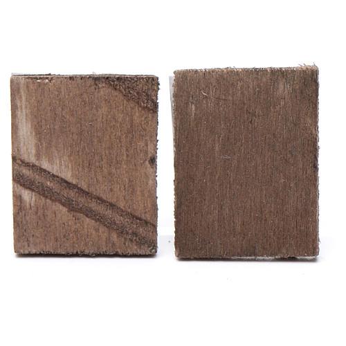 Quadretto legno presepe 2 pz 4x3,5 2