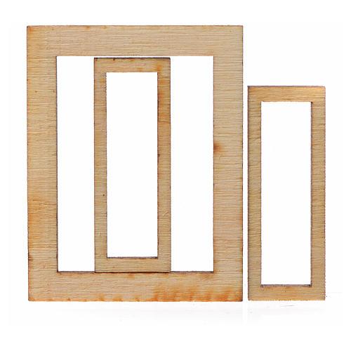 Infisso legno presepe 4,5x3,5 2