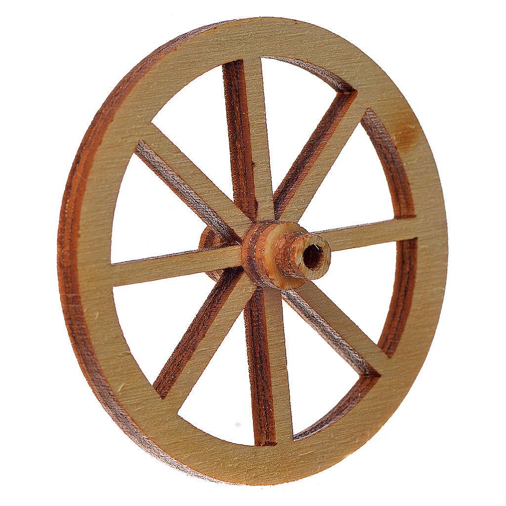 Rad aus Holz für Krippe Durchmesser 4cm 4