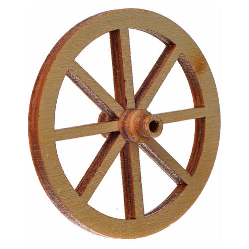 Nativity accessory, wooden wheel, diam. 4cm 2