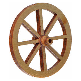 Ruota legno presepe diam cm 4 s2