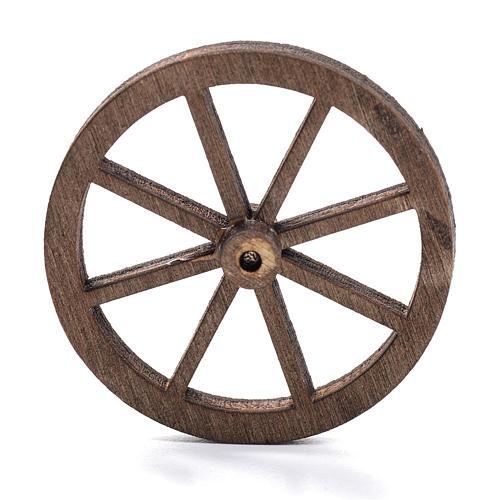 Ruota legno presepe diam cm 4 1
