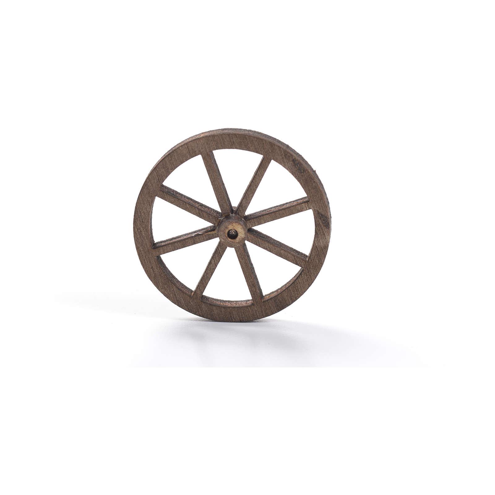 Roda madeira presépio diâmetro 4 cm 4