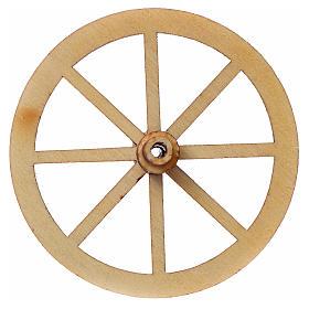 Roda madeira presépio diâmetro 4 cm s3
