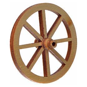 Roda madeira presépio diâmetro 4 cm s4