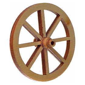 Roda madeira presépio diâmetro 4 cm s2