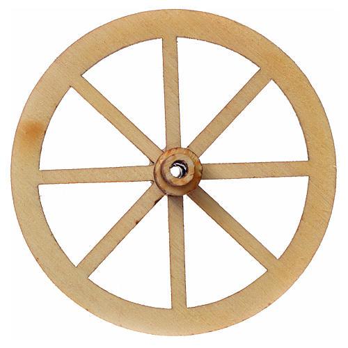 Roda madeira presépio diâmetro 4 cm 3