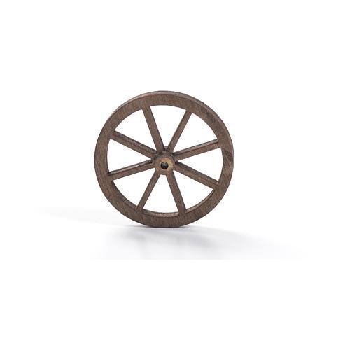 Roda madeira presépio diâmetro 4 cm 5