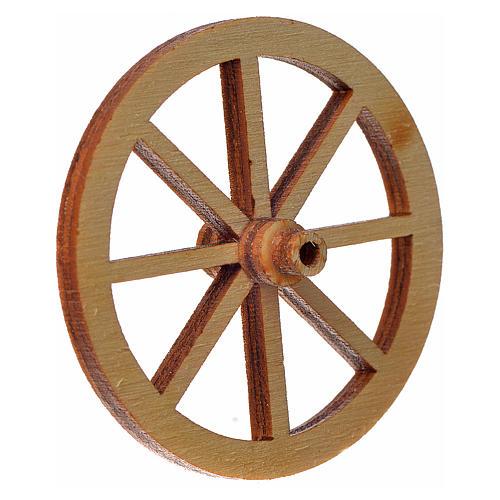 Roda madeira presépio diâmetro 4 cm 2