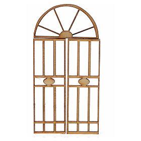 Nativity accessory, wooden gate, 3 pieces, 7x3.5cm s1