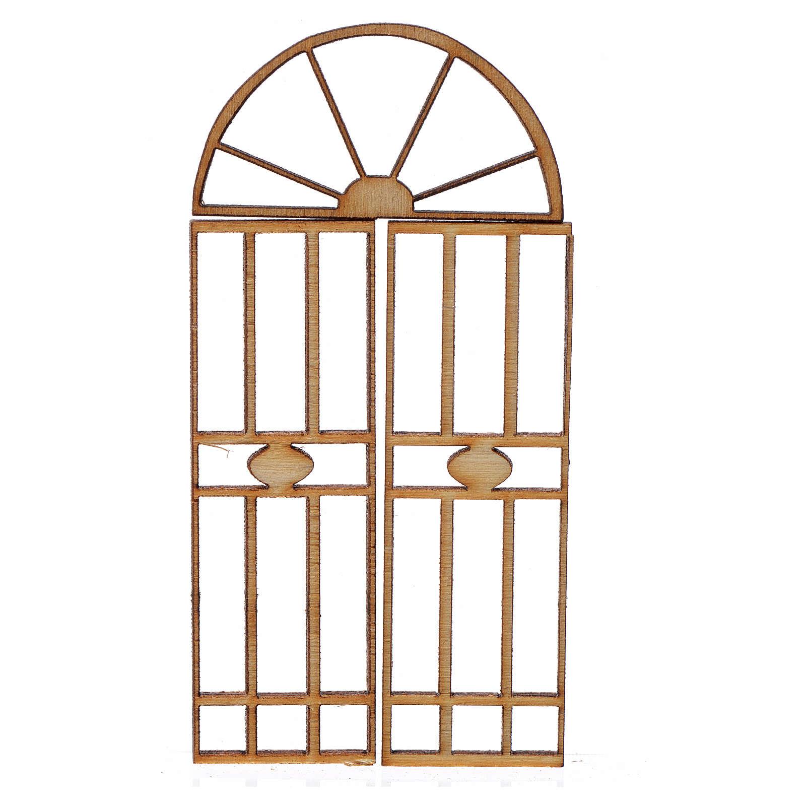 Cancello presepe legno 3 pz 7x3,5 cm 4