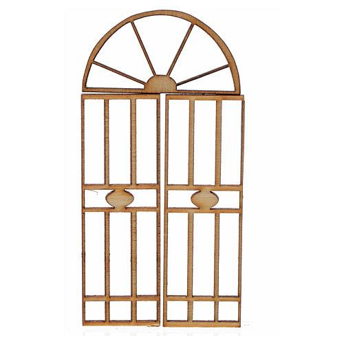 Cancello presepe legno 3 pz 7x3,5 cm 1