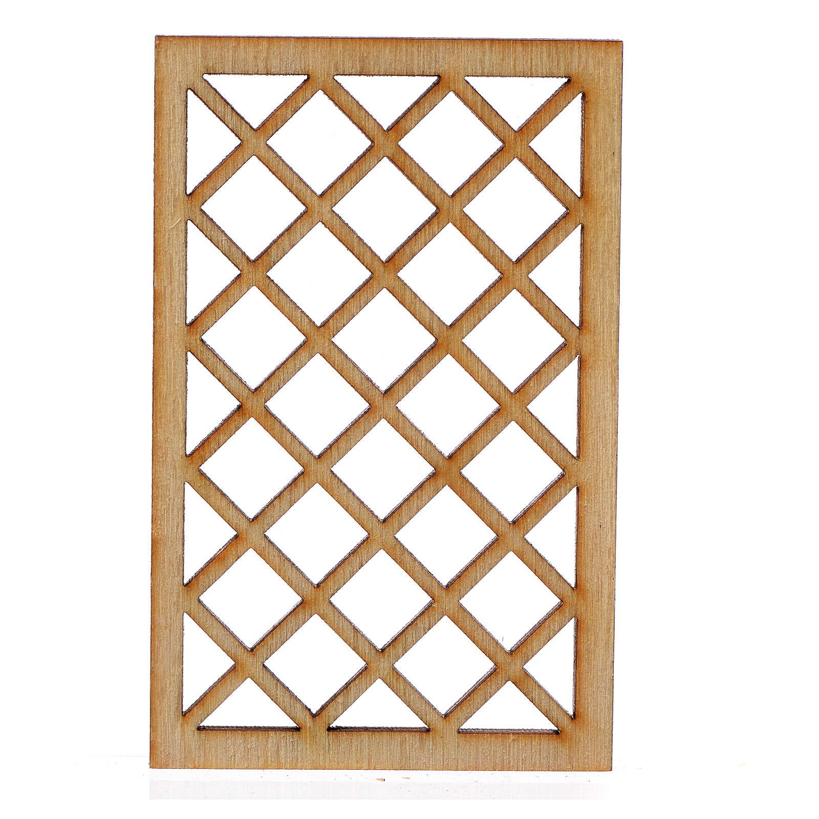 Inferriata presepe legno 7x4,5 cm 4